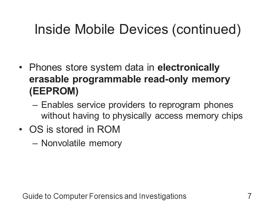 Inside Mobile Devices (continued)