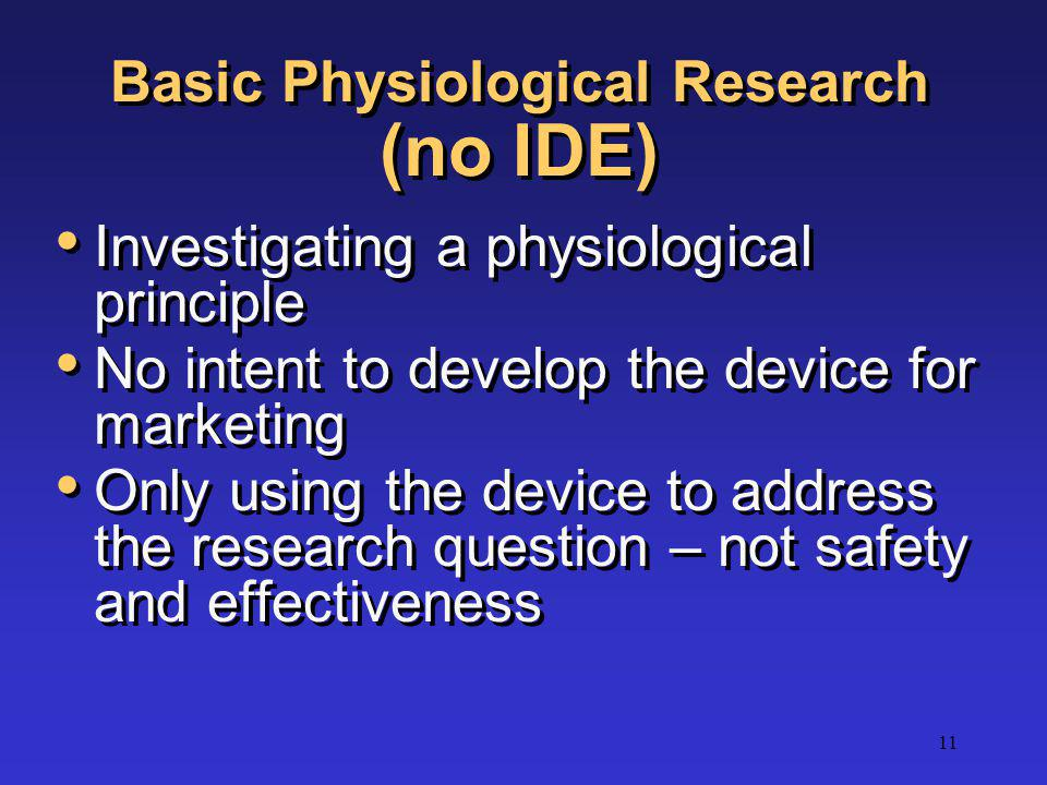 Basic Physiological Research (no IDE)