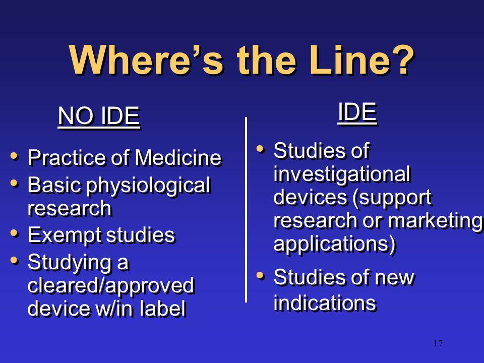 Where's the Line IDE NO IDE
