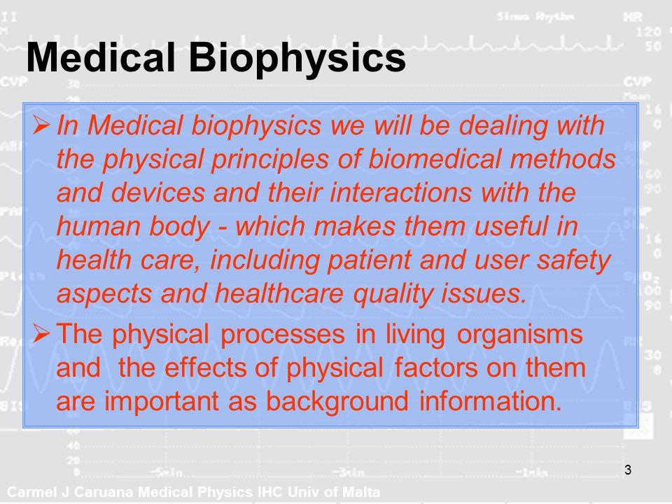 Medical Biophysics
