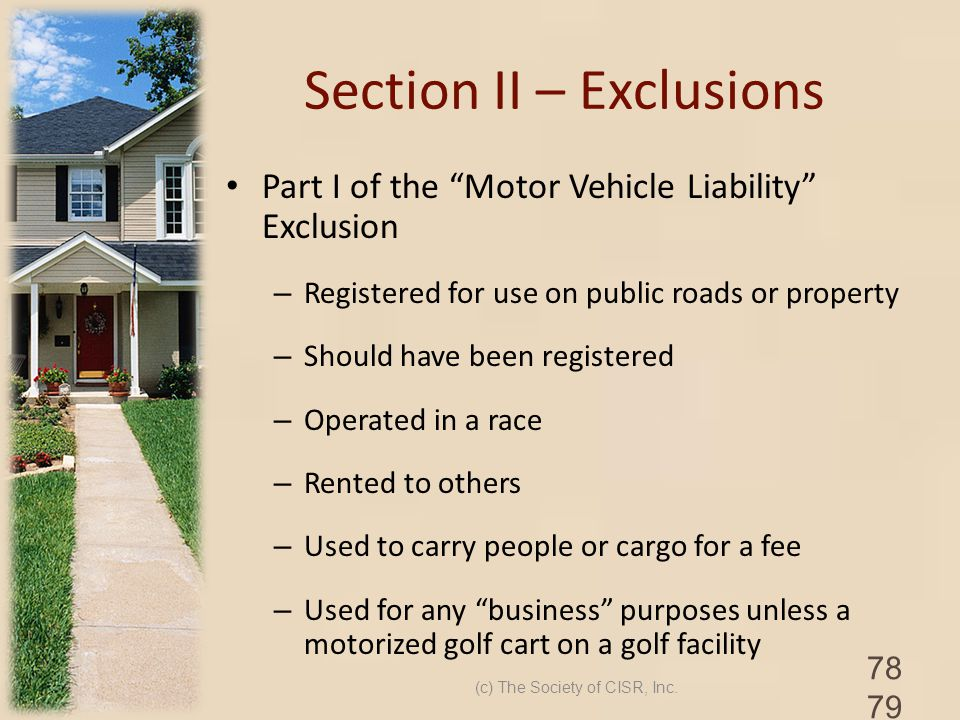 Section II – Exclusions