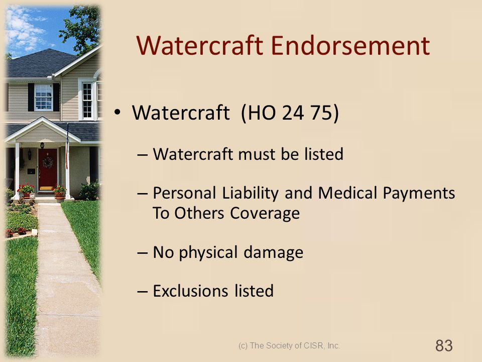 Watercraft Endorsement