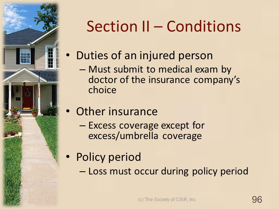 Section II – Conditions