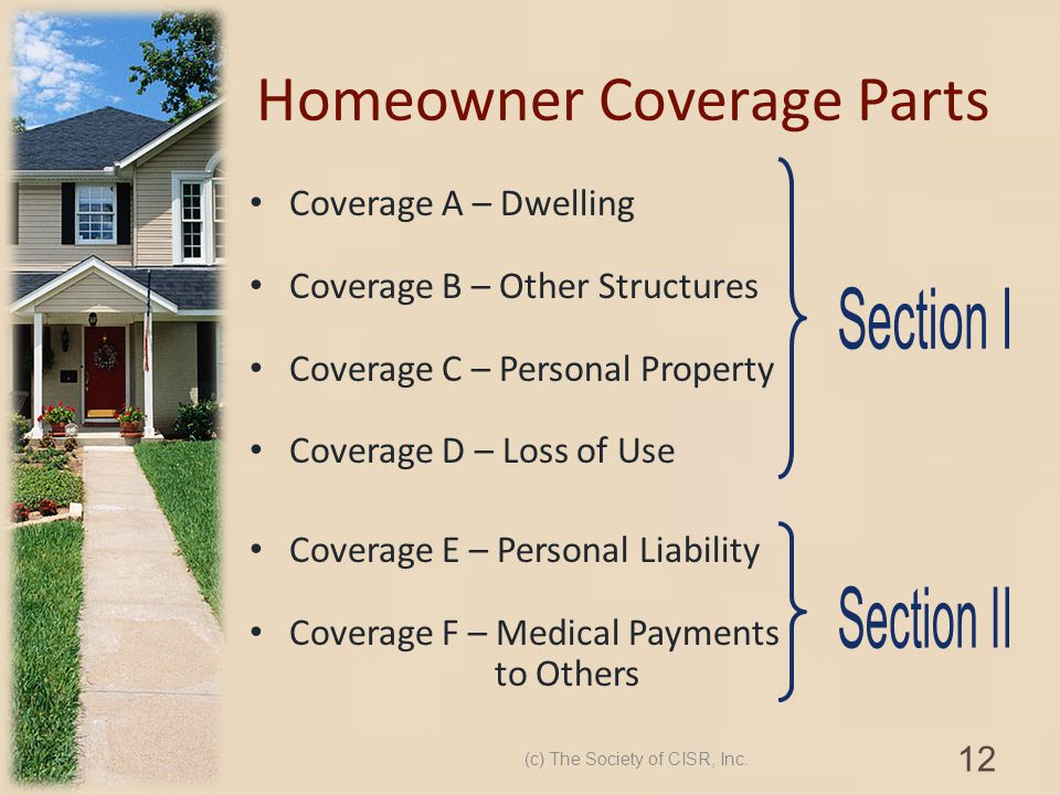 Homeowner Coverage Parts
