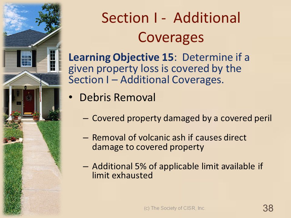Section I - Additional Coverages