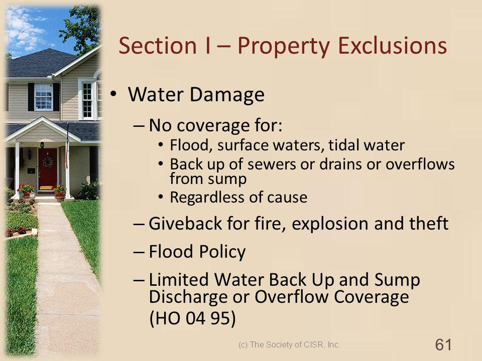 Section I – Property Exclusions