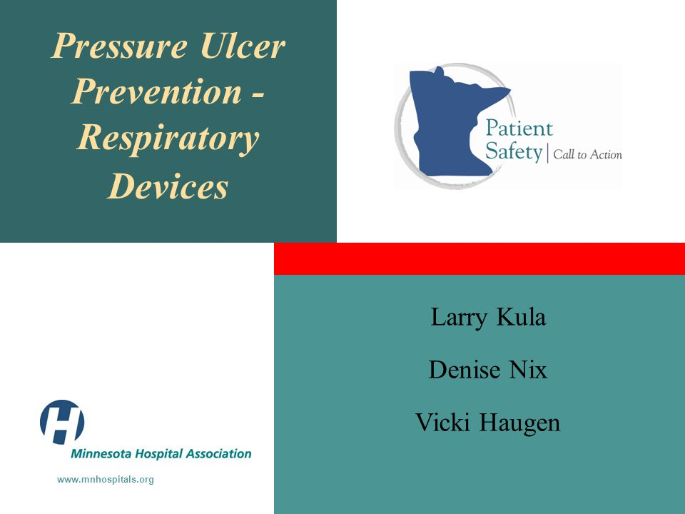 Pressure Ulcer Prevention - Respiratory Devices