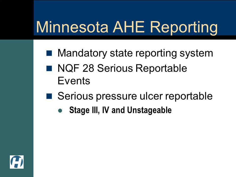 Minnesota AHE Reporting