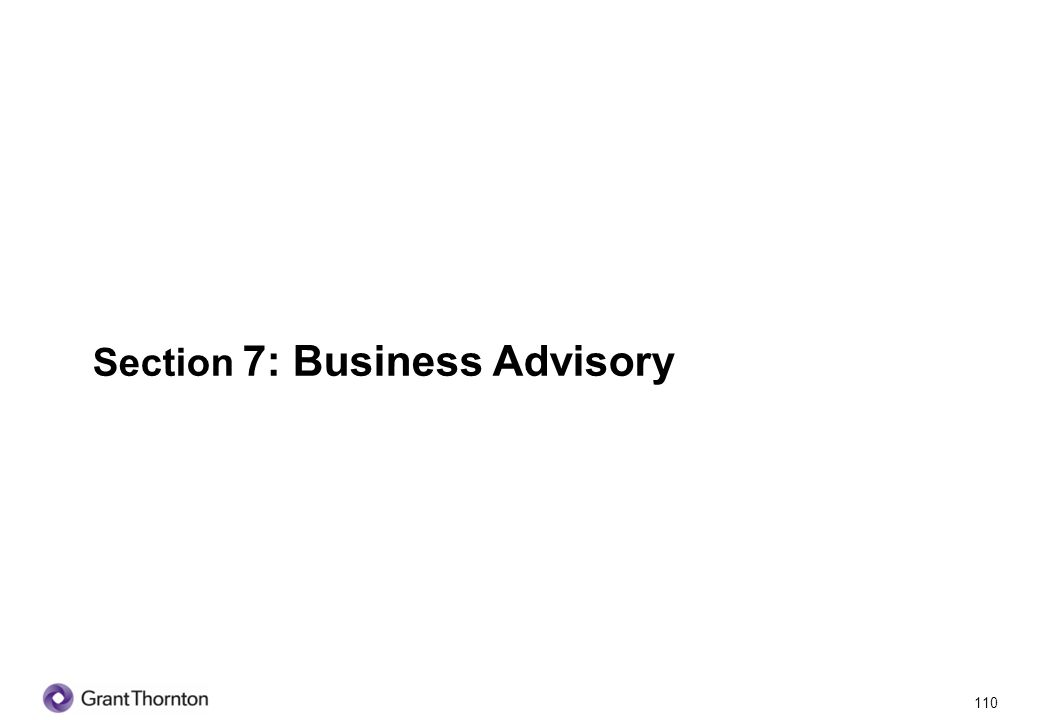Section 7: Business Advisory