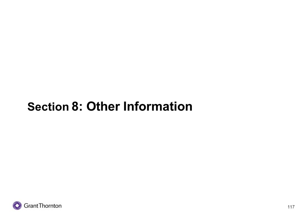 Section 8: Other Information