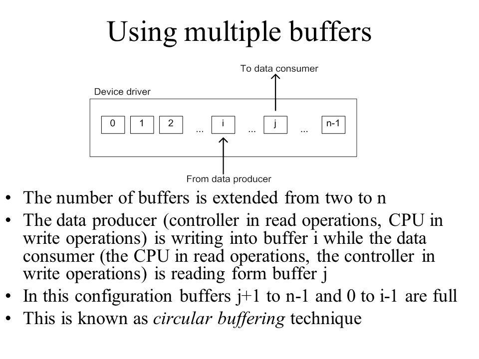 Using multiple buffers
