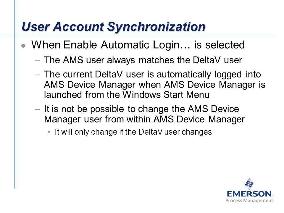 User Account Synchronization