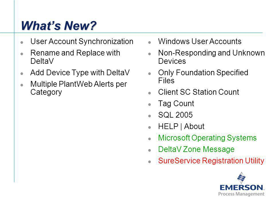 What's New User Account Synchronization