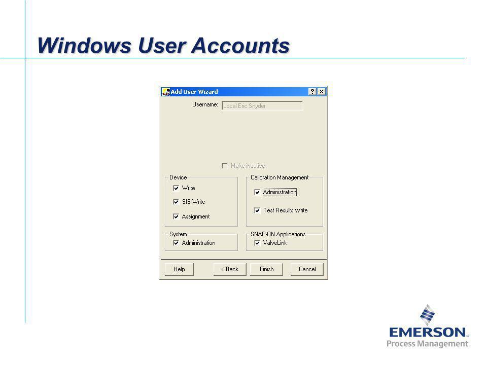 Windows User Accounts