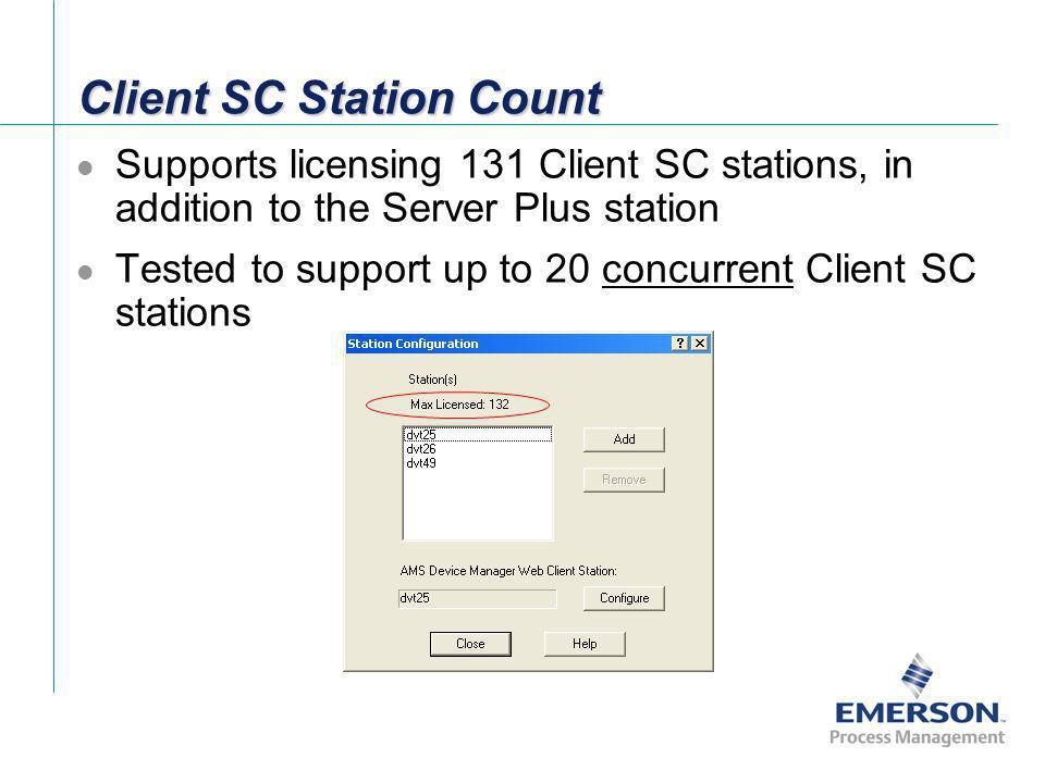 Client SC Station Count