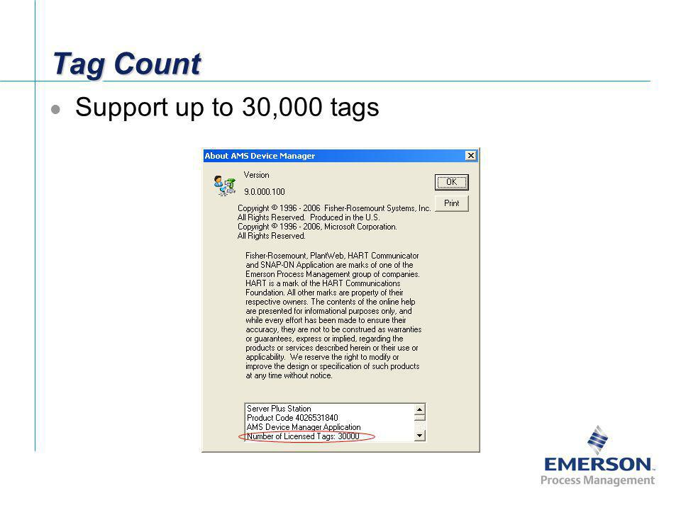 Tag Count Support up to 30,000 tags