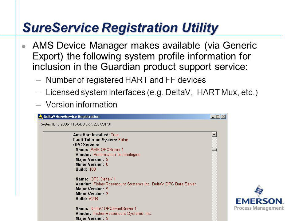 SureService Registration Utility