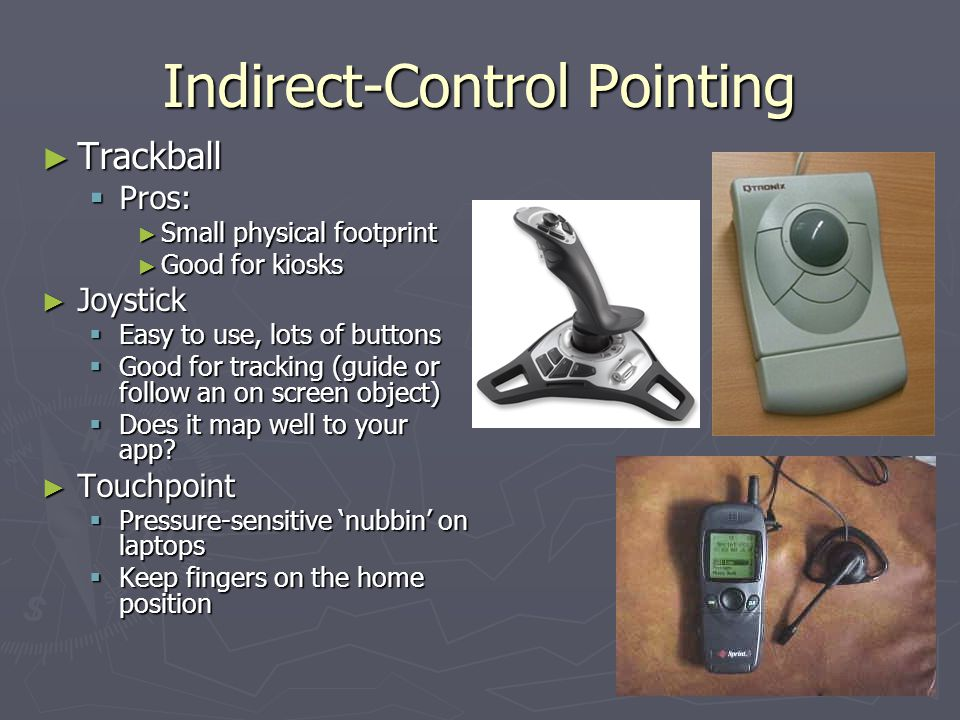 Indirect-Control Pointing