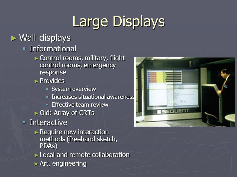 Large Displays Wall displays Informational Interactive