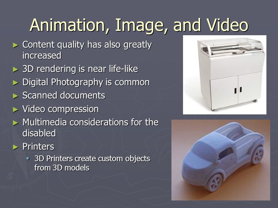 Animation, Image, and Video