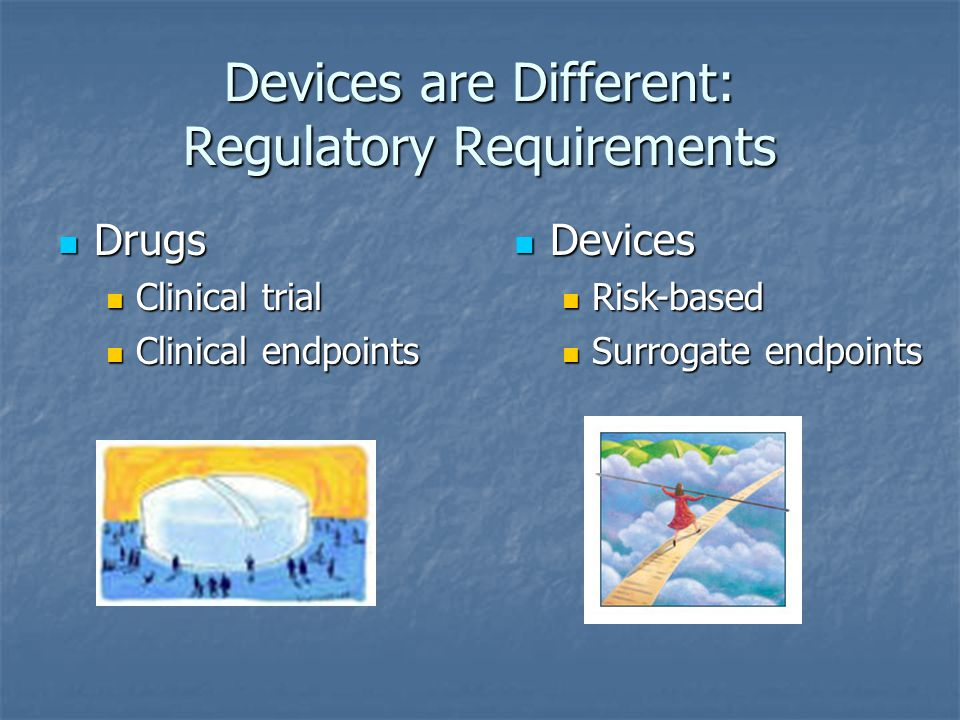 Devices are Different: Regulatory Requirements