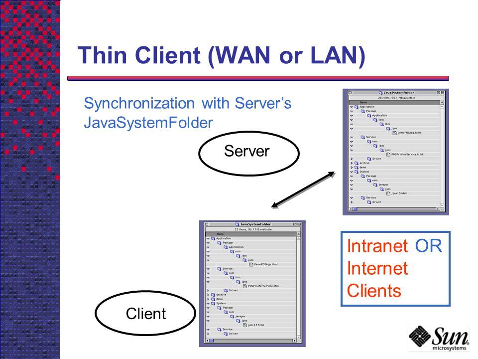 Thin Client (WAN or LAN)