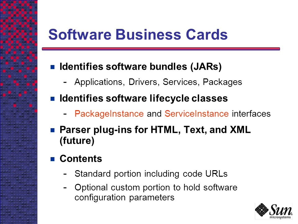 Software Business Cards