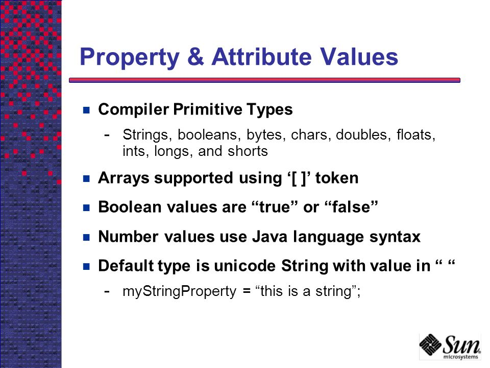 Property & Attribute Values