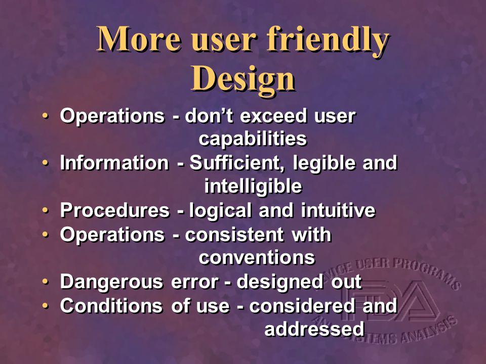More user friendly Design