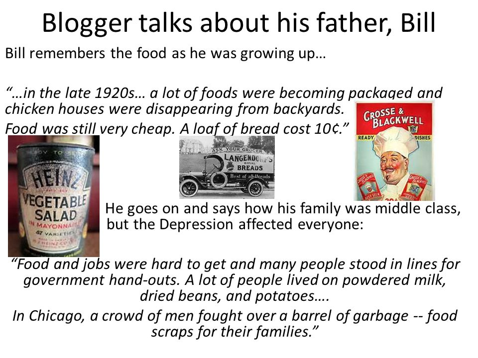 Blogger talks about his father, Bill