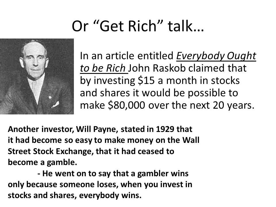 Or Get Rich talk…