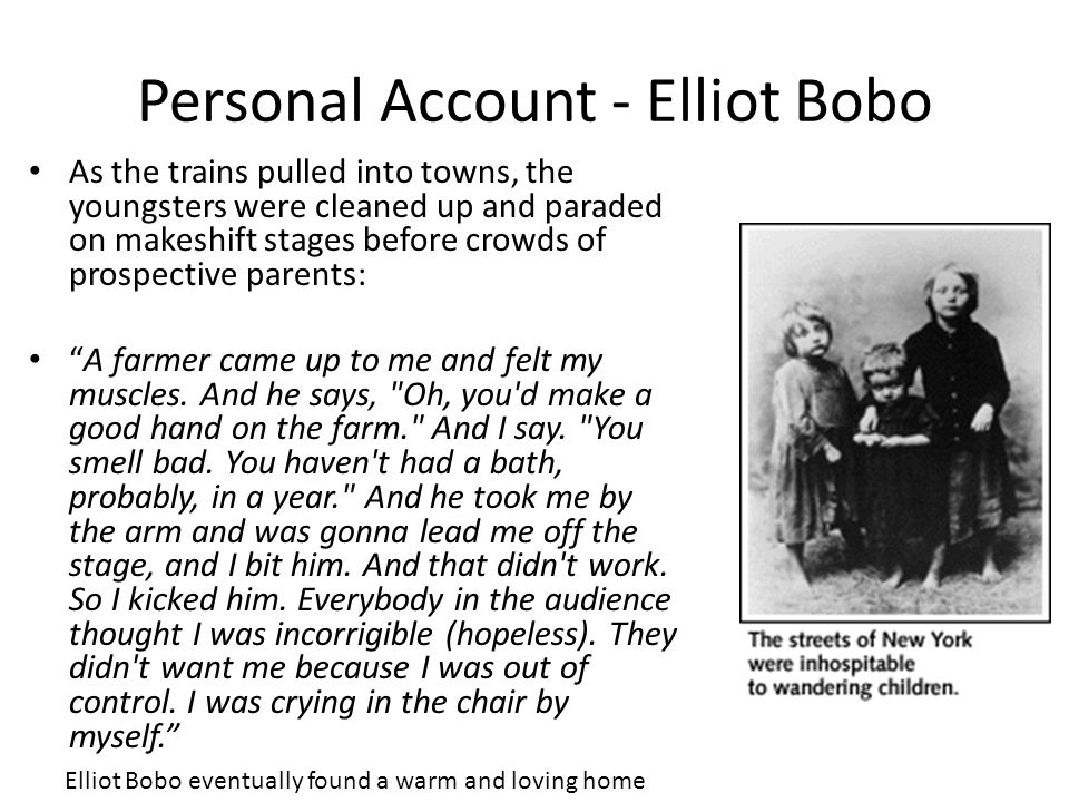 Personal Account - Elliot Bobo