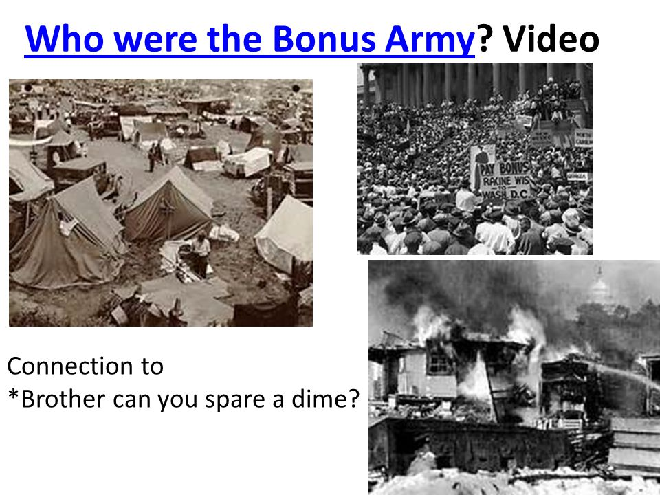Who were the Bonus Army Video
