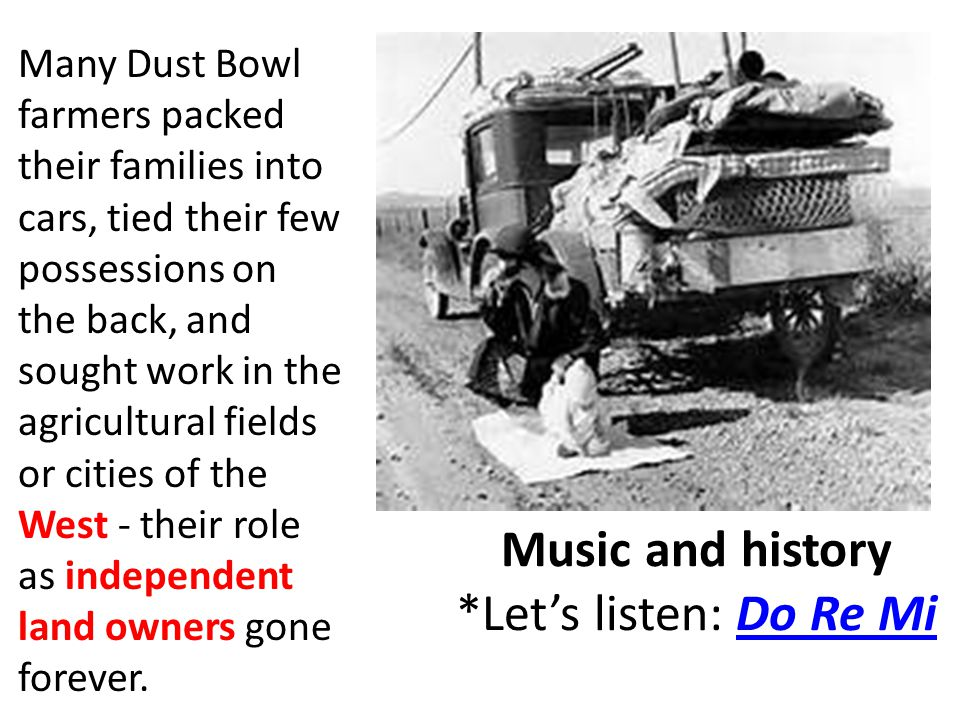Music and history *Let's listen: Do Re Mi