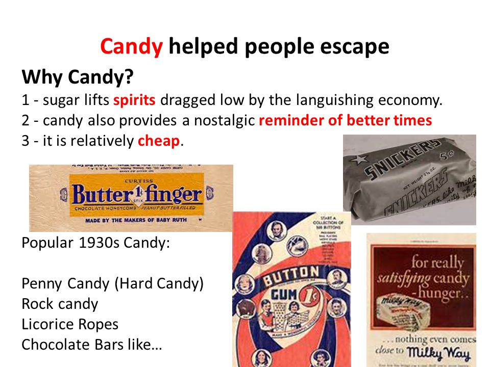 Candy helped people escape