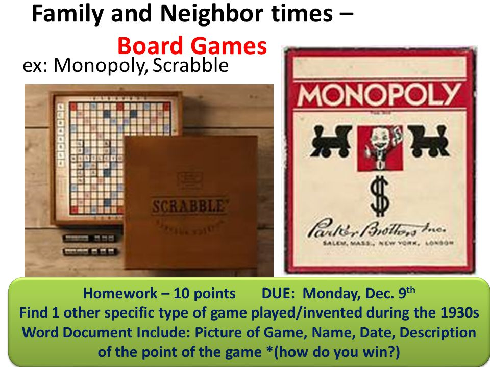 Family and Neighbor times – Board Games