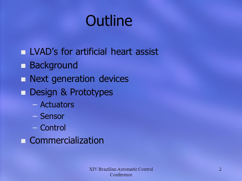 XIV Brazilian Automatic Control Conference