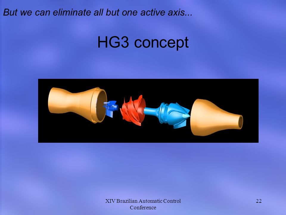 HG3 concept But we can eliminate all but one active axis...