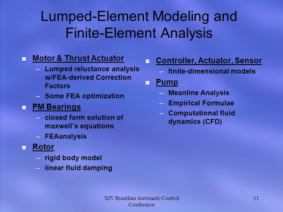 Lumped-Element Modeling and Finite-Element Analysis