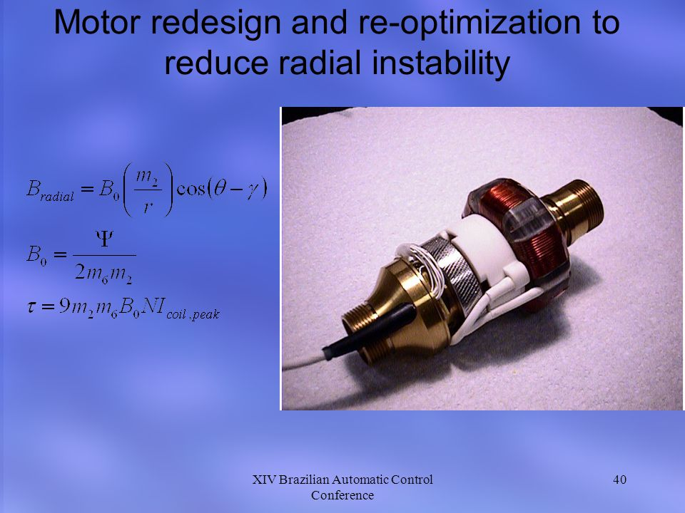 Motor redesign and re-optimization to reduce radial instability
