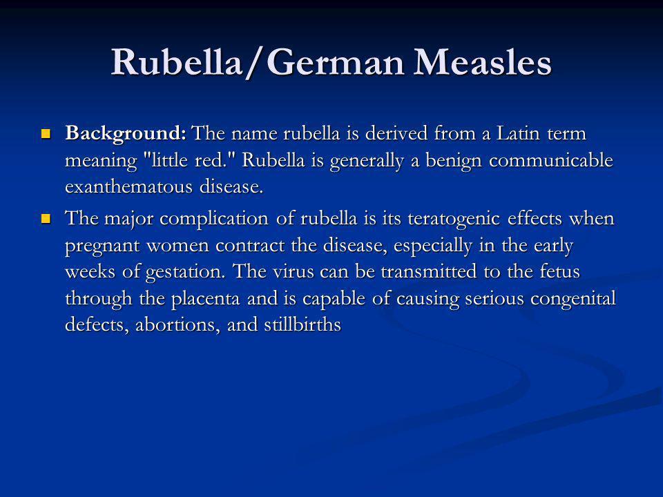 Rubella/German Measles