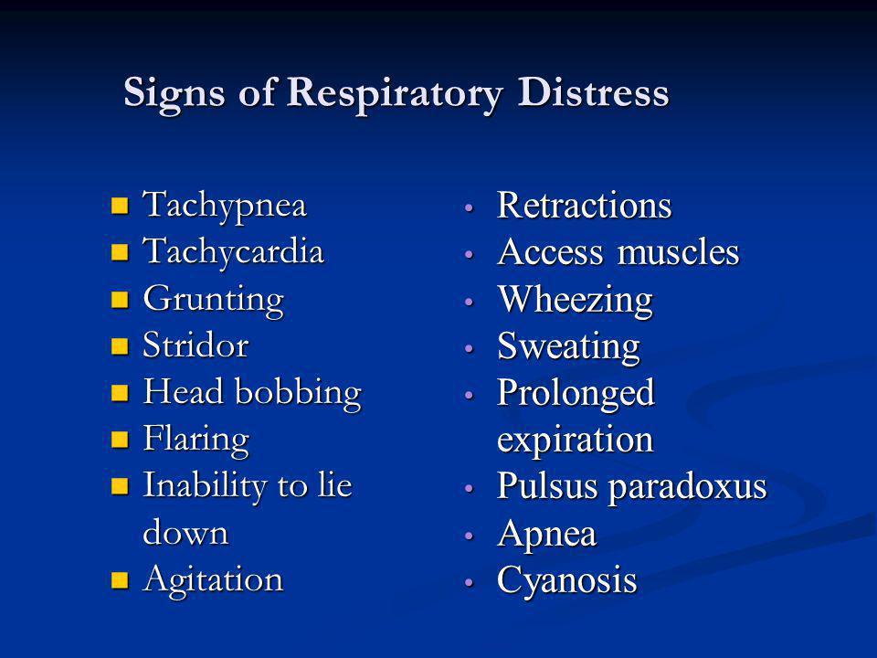 Signs of Respiratory Distress