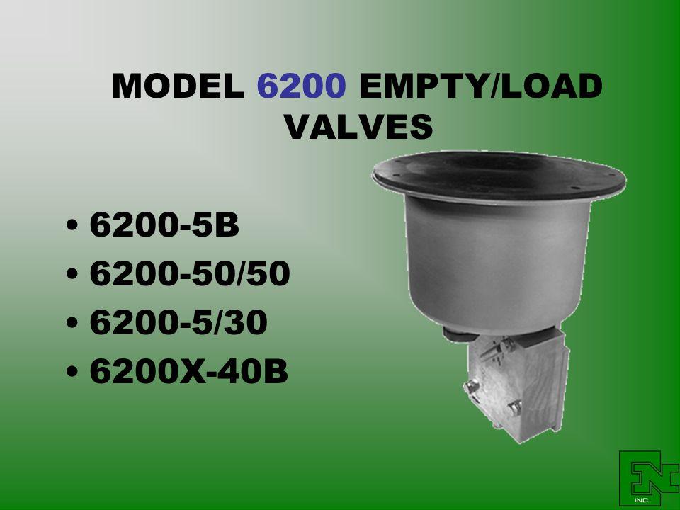MODEL 6200 EMPTY/LOAD VALVES