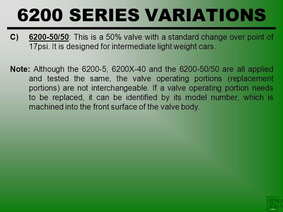 6200 SERIES VARIATIONS
