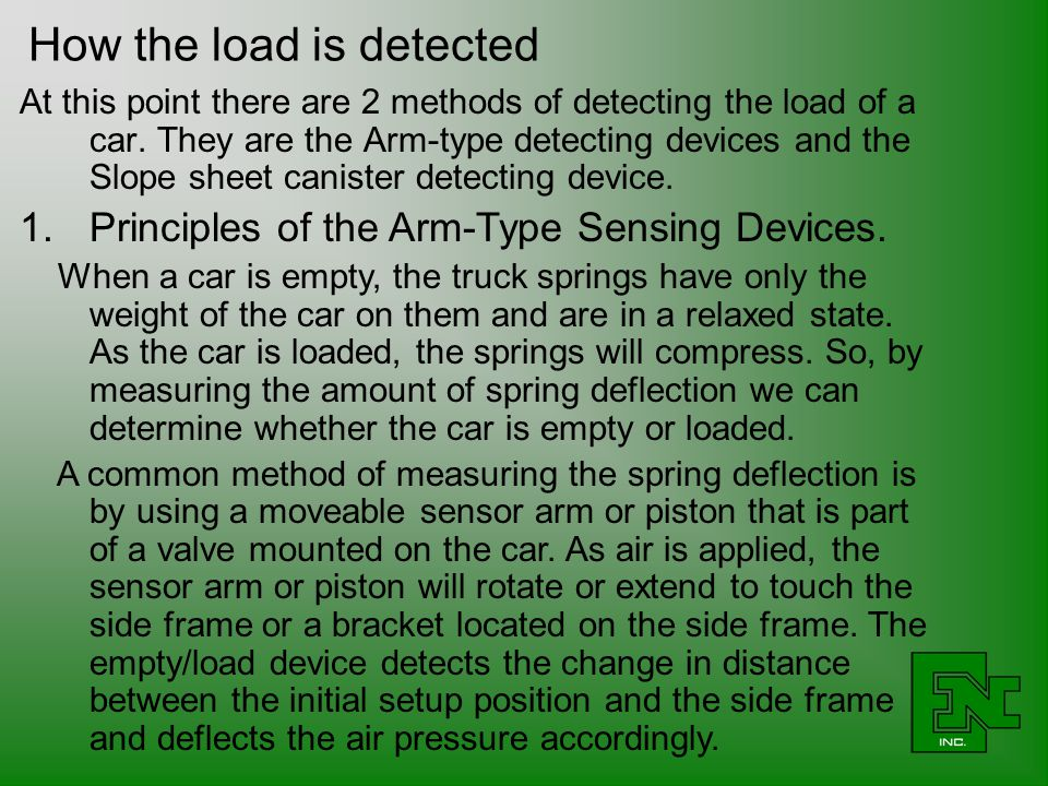 How the load is detected