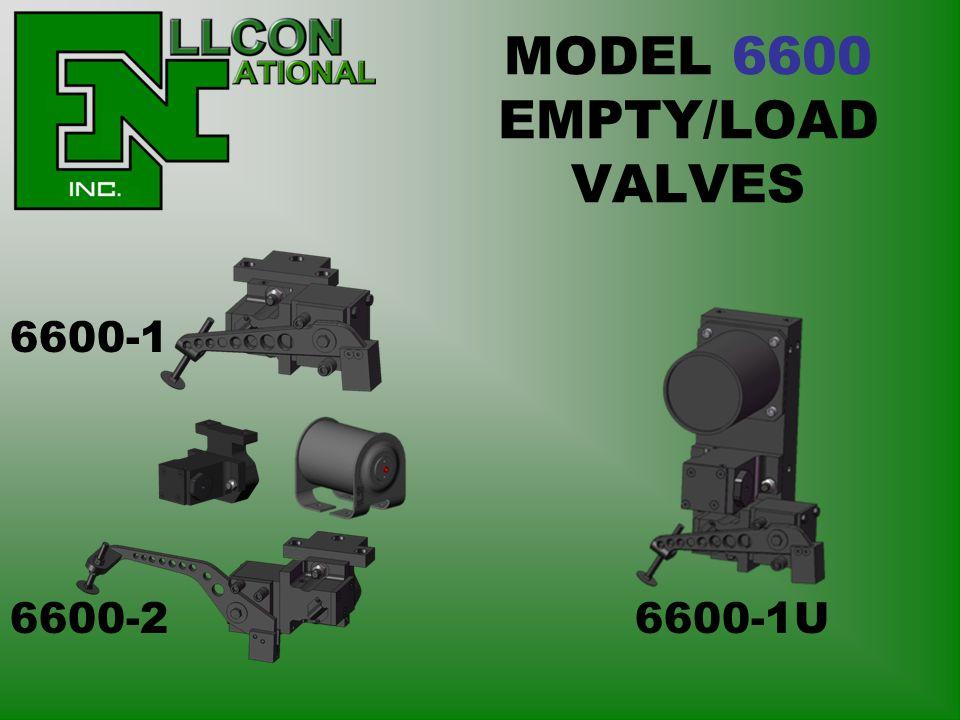 MODEL 6600 EMPTY/LOAD VALVES