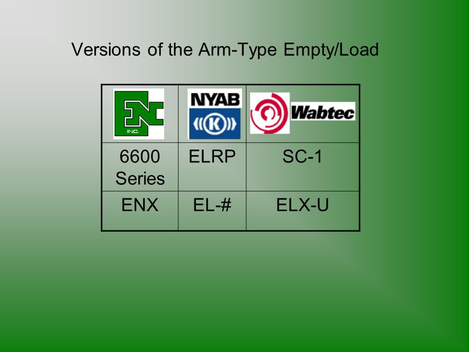 Versions of the Arm-Type Empty/Load