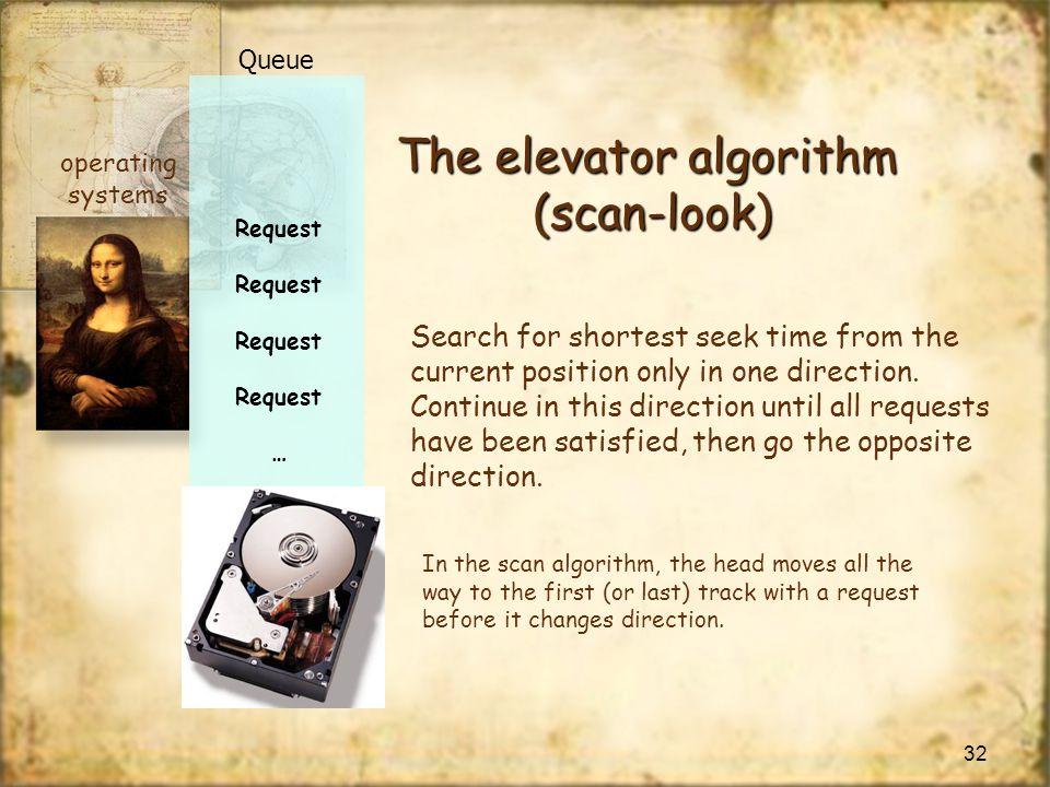 The elevator algorithm