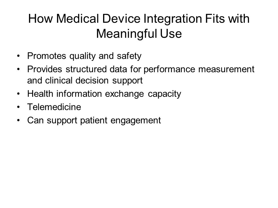 How Medical Device Integration Fits with Meaningful Use