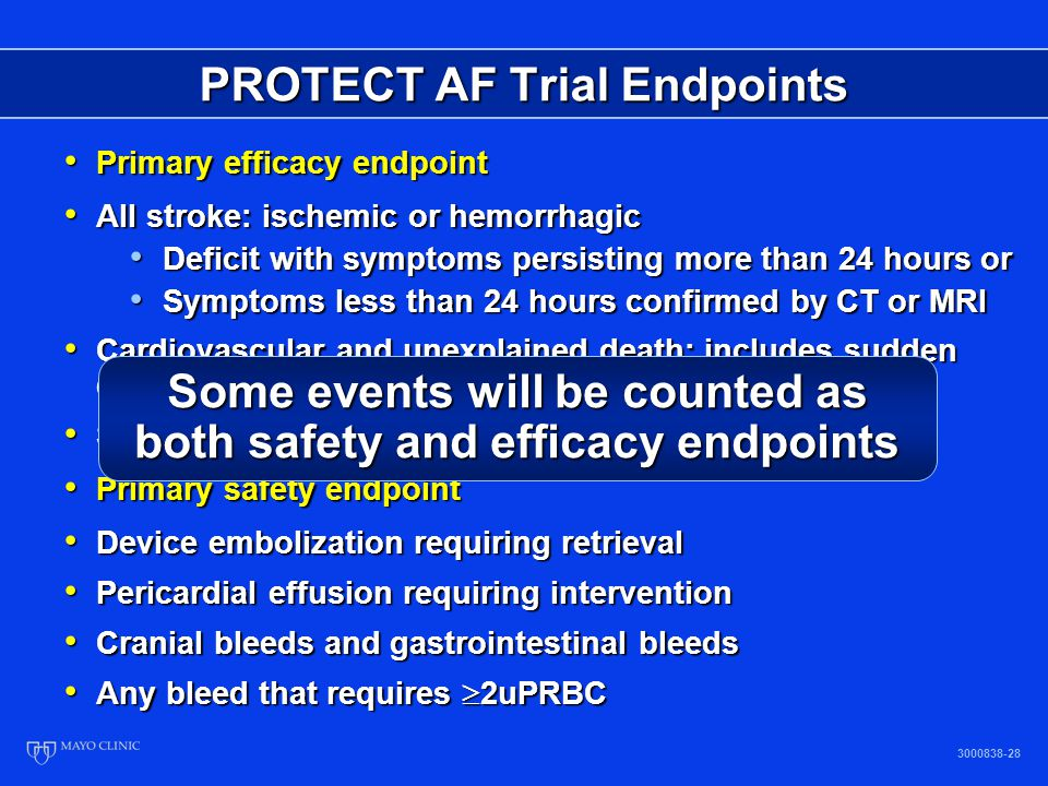 PROTECT AF Trial Endpoints